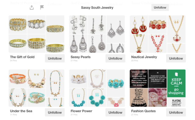 Sassy South Jewelry Pinterest Page